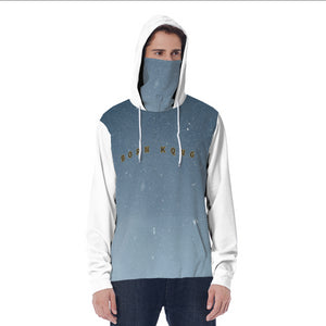 KQROWN'D APPAREL - LOGO EDITION - MEN'S HOODIE W/ MASK (NIGHTFALL/WHITE)