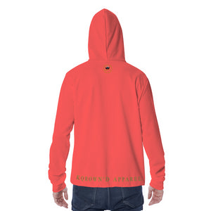 KQROWN'D APPAREL - LOGO EDITION - UNISEX MASKED HOODIE (RED)