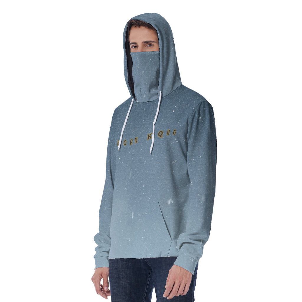 KQROWN'D APPAREL - LOGO EDITION - MEN'S HOODIE W/ MASK (NIGHTFALL)