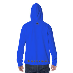 KQROWN'D APPAREL - LOGO EDITION - MEN'S MASKED HOODIE (BLUE)