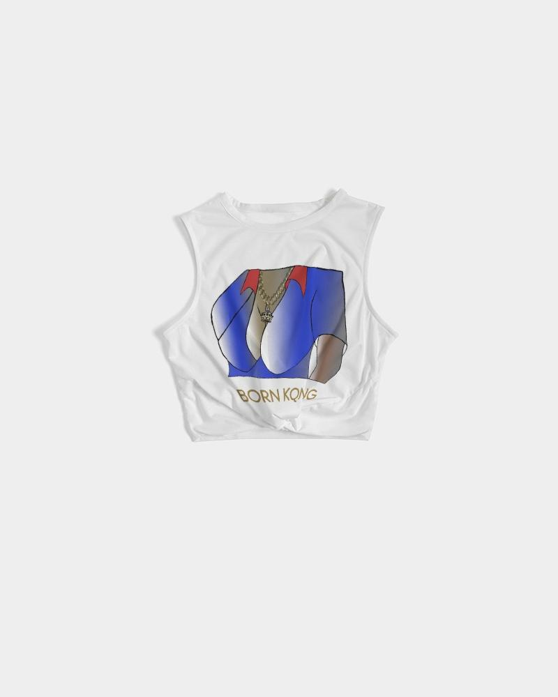 KQROWN'D APPAREL - CHARMED Edition Women's Twist-Front Tank - KQROWN'D APPAREL