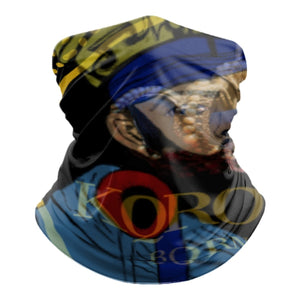 KQROWN'D APPAREL - KING DURAG & GRILLZ Edition - Tube Scarf - KQROWN'D APPAREL