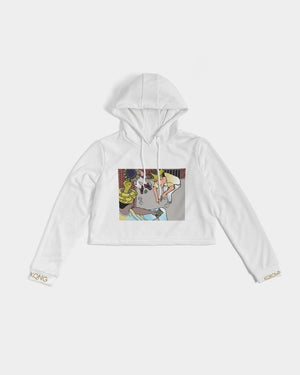 KQROWN'D Apparel - KQNGS SHOOTING DICE Edition Women's Cropped Hoodie - KQROWN'D APPAREL