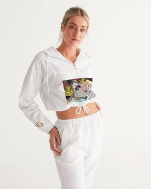 KQROWN'D Apparel - KQNGS SHOOTING DICE Edition Women's Cropped Windbreaker - KQROWN'D APPAREL