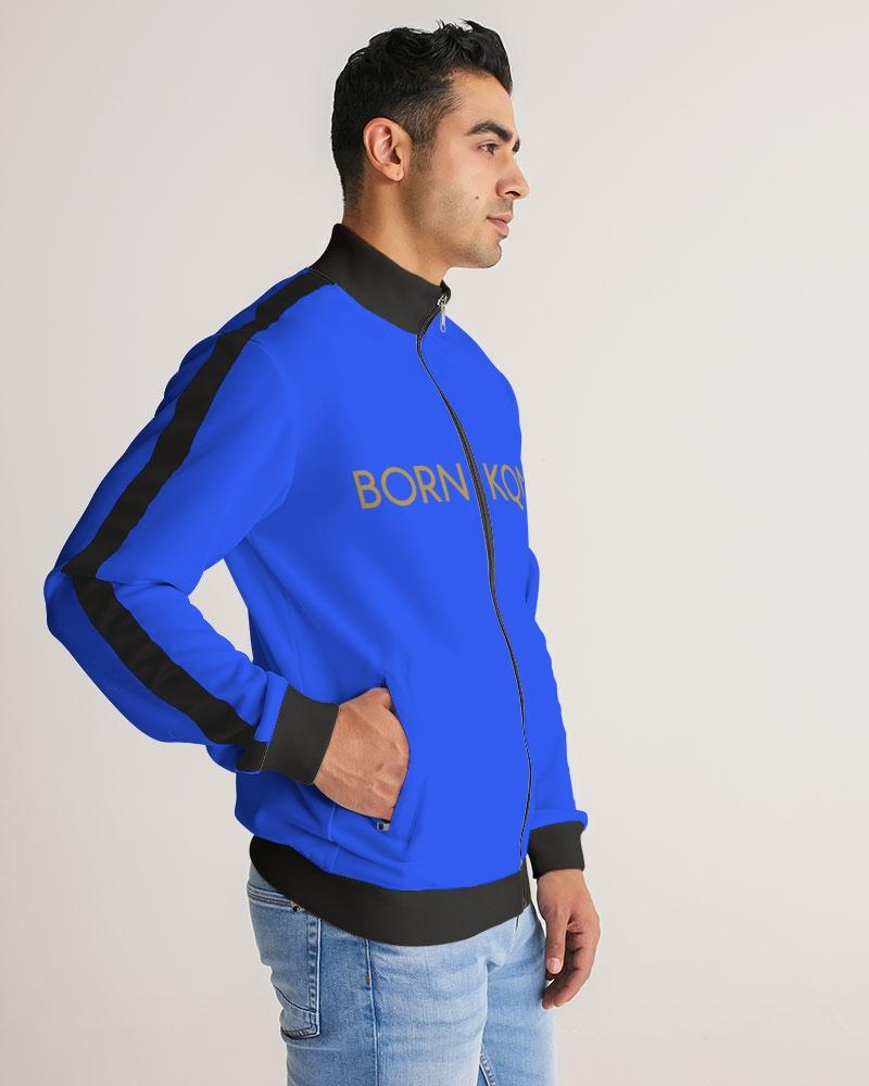 KQROWN'D APPAREL- LOGO Edition Men's Stripe-Sleeve Track Jacket - KQROWN'D APPAREL