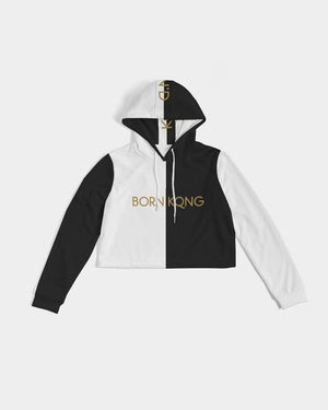 KQROWN'D Apparel - LOGO Edition Women's Cropped Hoodie - KQROWN'D APPAREL