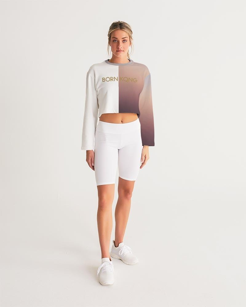 KQROWN'D Apparel - LOGO Edition Women's Cropped Sweatshirt - KQROWN'D APPAREL