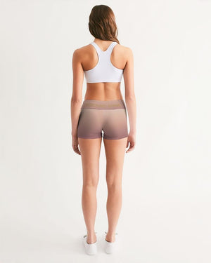 KQROWN'D Apparel - LOGO Edition Women's Mid-Rise Yoga Shorts - KQROWN'D APPAREL