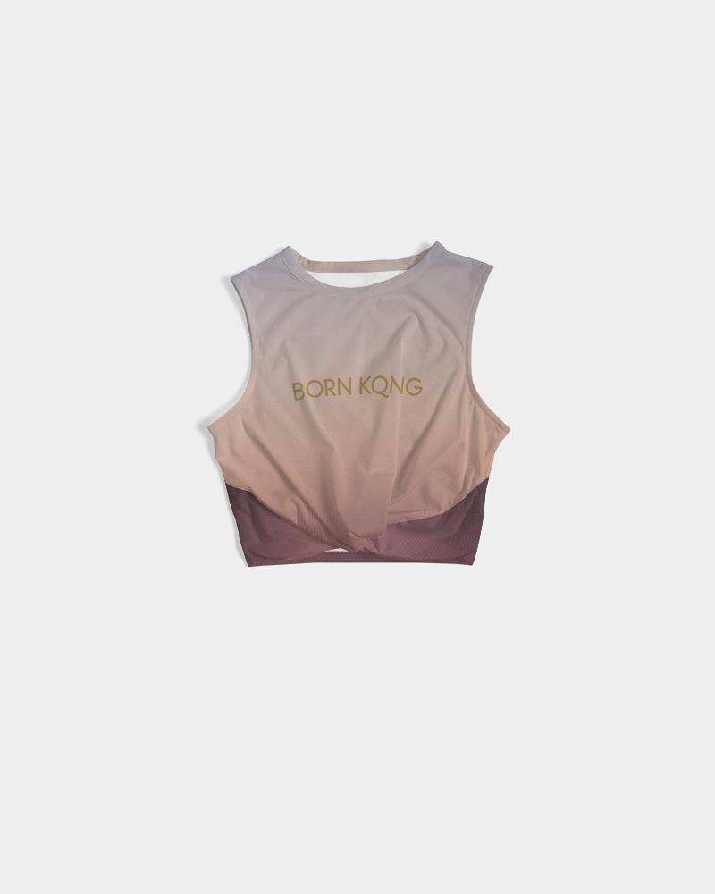 KQROWN'D Apparel - LOGO Edition Women's Twist-Front Tank - KQROWN'D APPAREL