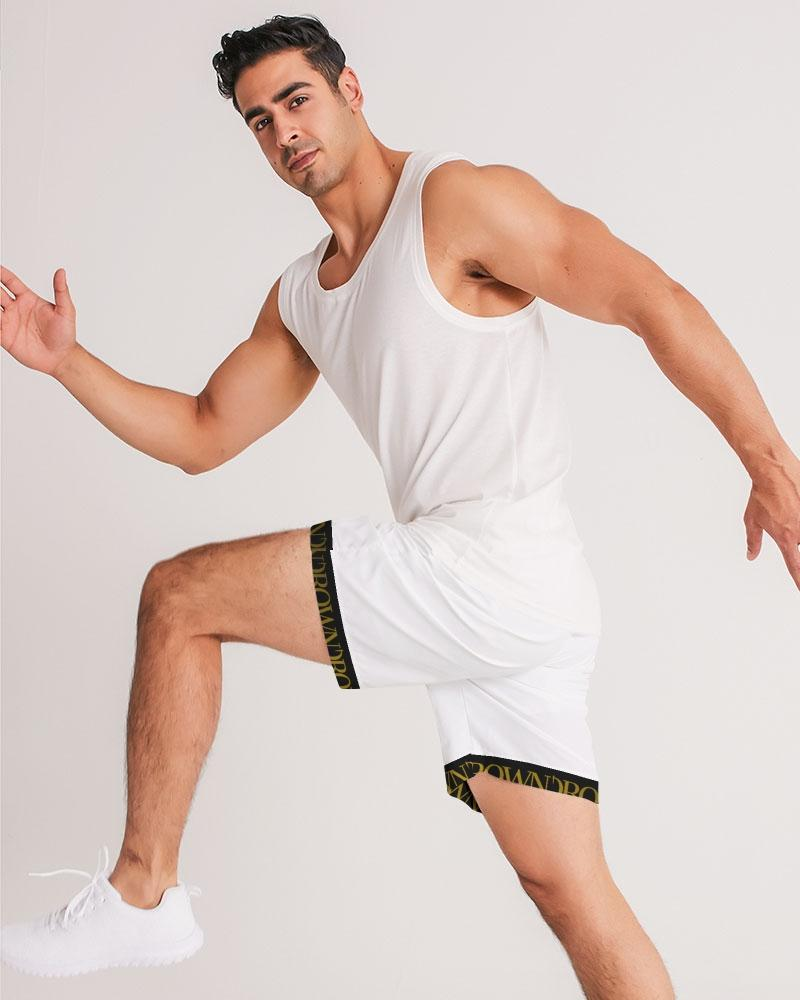 KQROWN'D APPAREL - LOGO PATTERN Edition Men's Jogger Shorts - KQROWN'D APPAREL