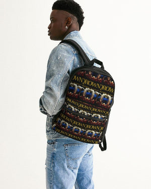 KQROWN'D APPAREL - LOGO PATTERN Edition Small Canvas Backpack - KQROWN'D APPAREL