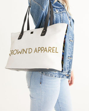 KQROWN'D APPAREL - LOGO PATTERN Edition Stylish Tote - KQROWN'D APPAREL