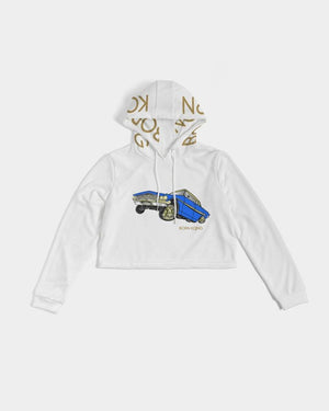 KQROWN'D APPAREL - LOWRIDER Edition Women's Cropped Hoodie - KQROWN'D APPAREL