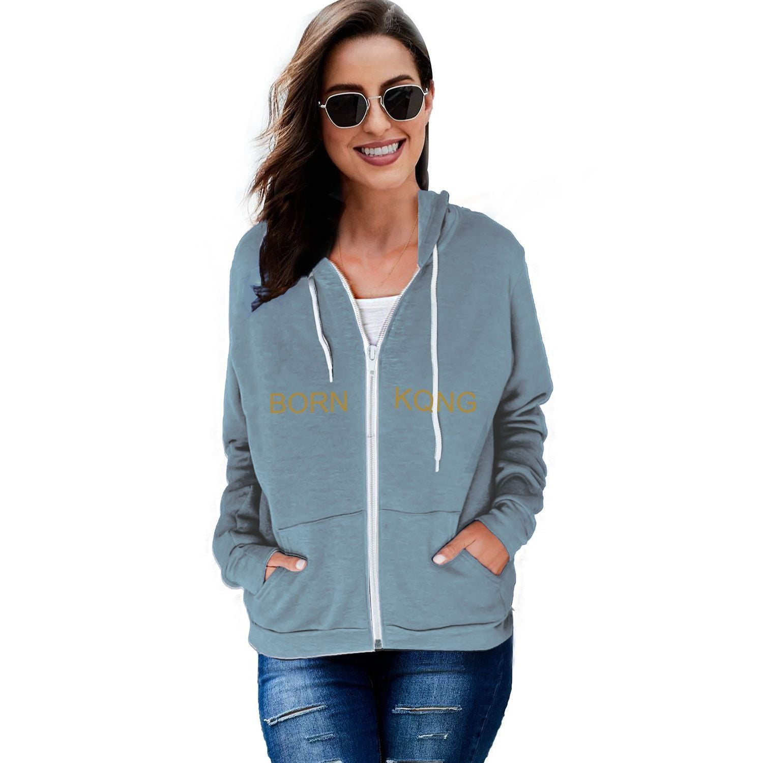 KQROWN'D APPAREL - LOWRIDER Edition - Women's Zip Hoodie - KQROWN'D APPAREL