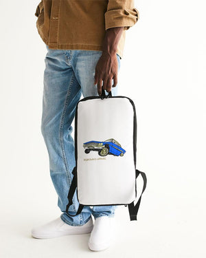 KQROWN'D Apparel - LOWRIDER w/ RIMS & KQNG PLATES Edition Slim Tech Backpack - KQROWN'D APPAREL