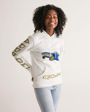 KQROWN'D Apparel - LOWRIDER w/ RIMS & KQNG PLATES Edition Women's Hoodie - KQROWN'D APPAREL