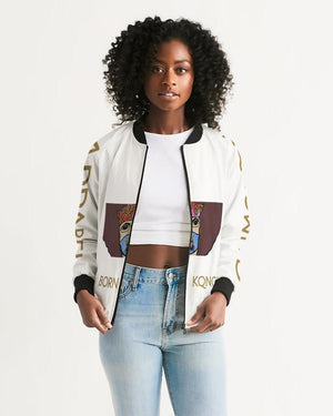 KQROWN'D APPAREL - MASK Edition Women's Bomber Jacket - KQROWN'D APPAREL