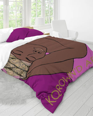 KQROWN'D APPAREL - SLEEPING KQNG Edition Queen Duvet Cover Set - KQROWN'D APPAREL