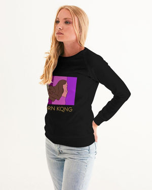 KQROWN'D APPAREL - SLEEPING KQNG Edition Women's Graphic Sweatshirt - KQROWN'D APPAREL