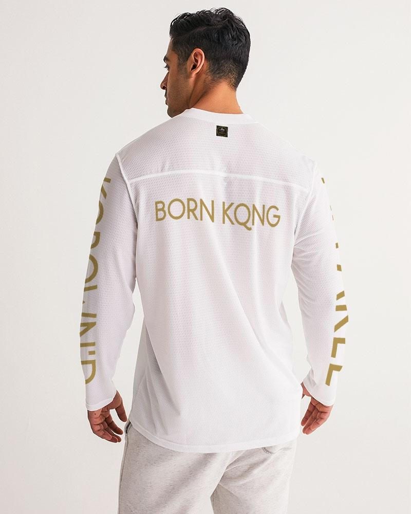 KQROWN'D KINGS - PLAYING SPADES Edition Men's Long Sleeve Sports Jersey - KQROWN'D APPAREL