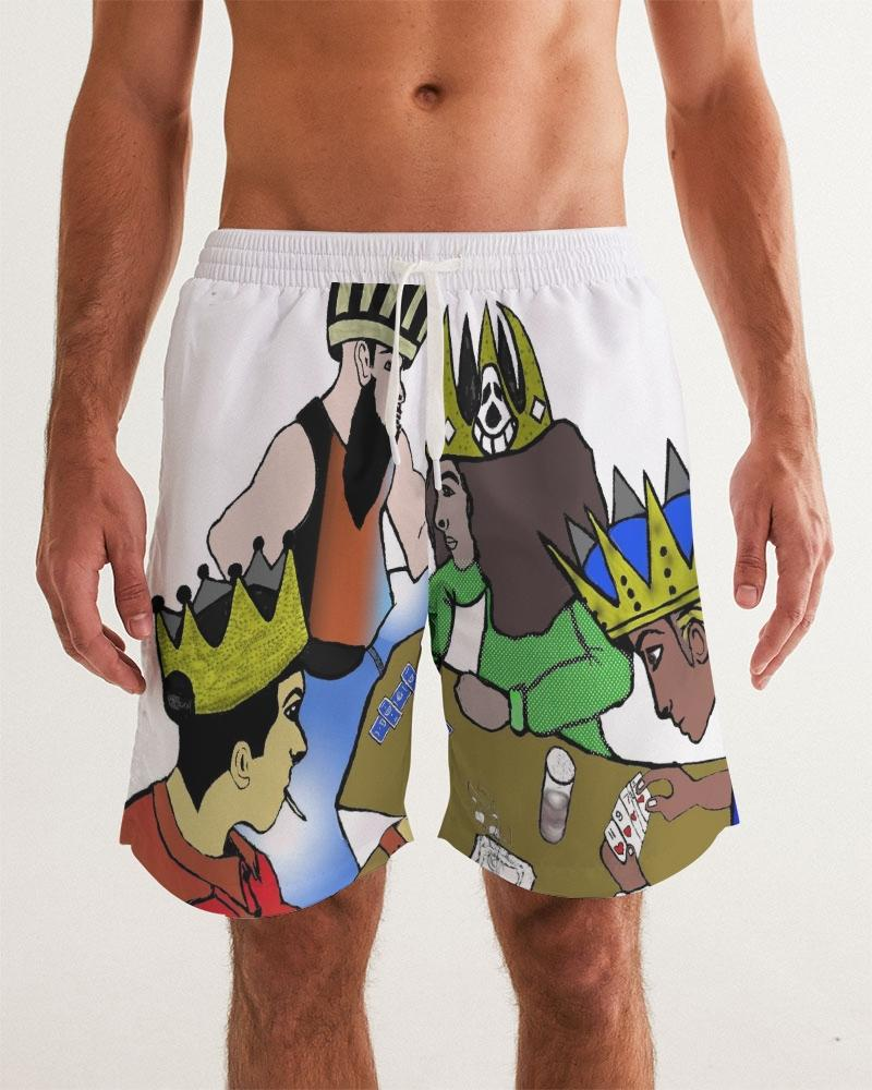 KQROWN'D KINGS - PLAYING SPADES Edition Men's Swim Trunk - KQROWN'D APPAREL