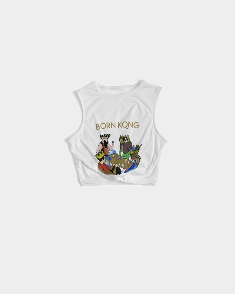KQROWN'D KINGS - PLAYING SPADES Edition Women's Twist-Front Tank - KQROWN'D APPAREL