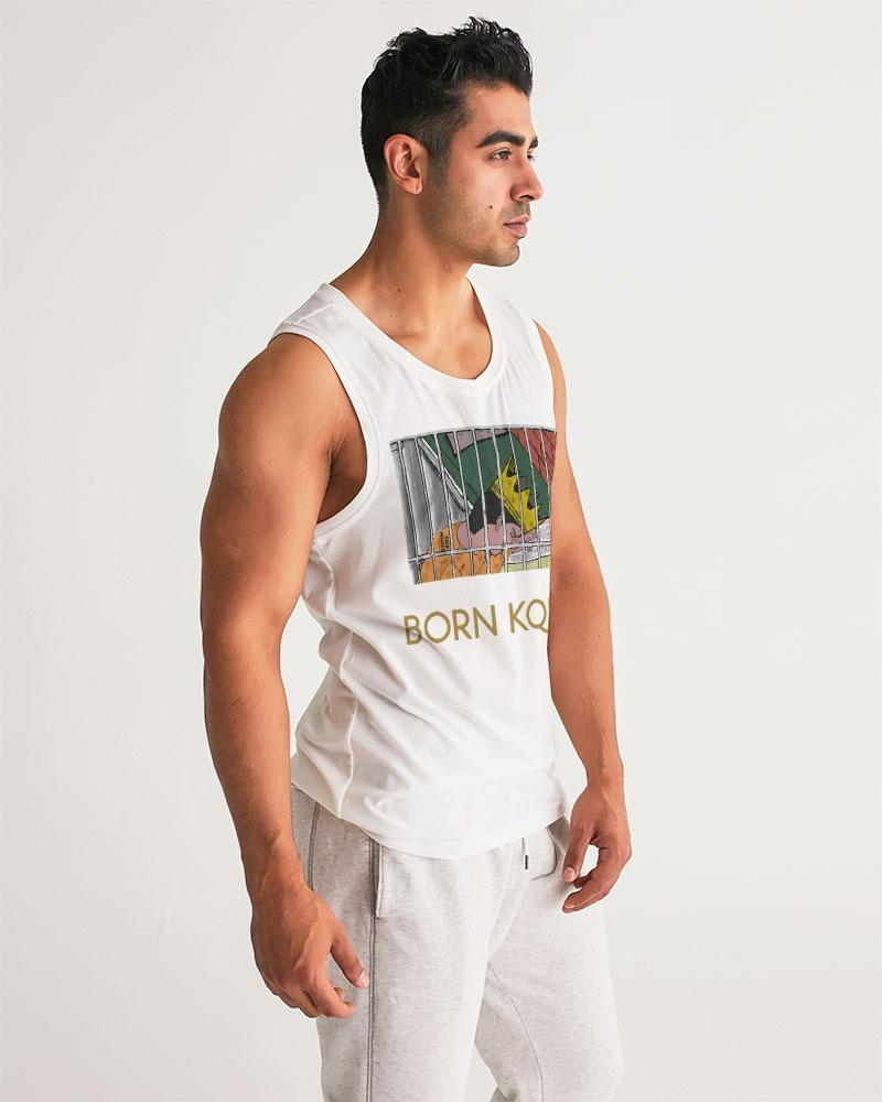 KQROWN'D KQNG - LOCKED UP Edition Men's Sports Tank - KQROWN'D APPAREL