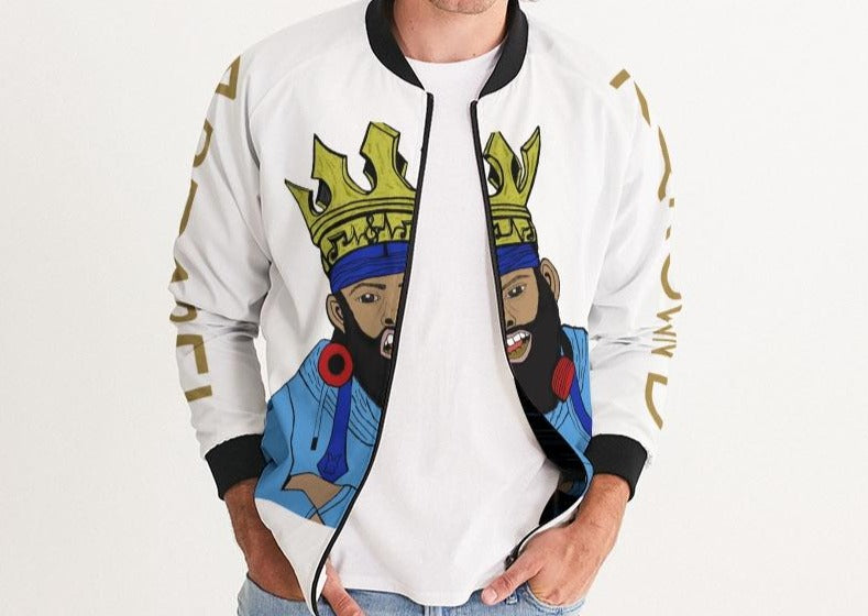 KQROWN'D KQNG with Durag and Grillz 09-01-2021 Men's Bomber Jacket - KQROWN'D APPAREL