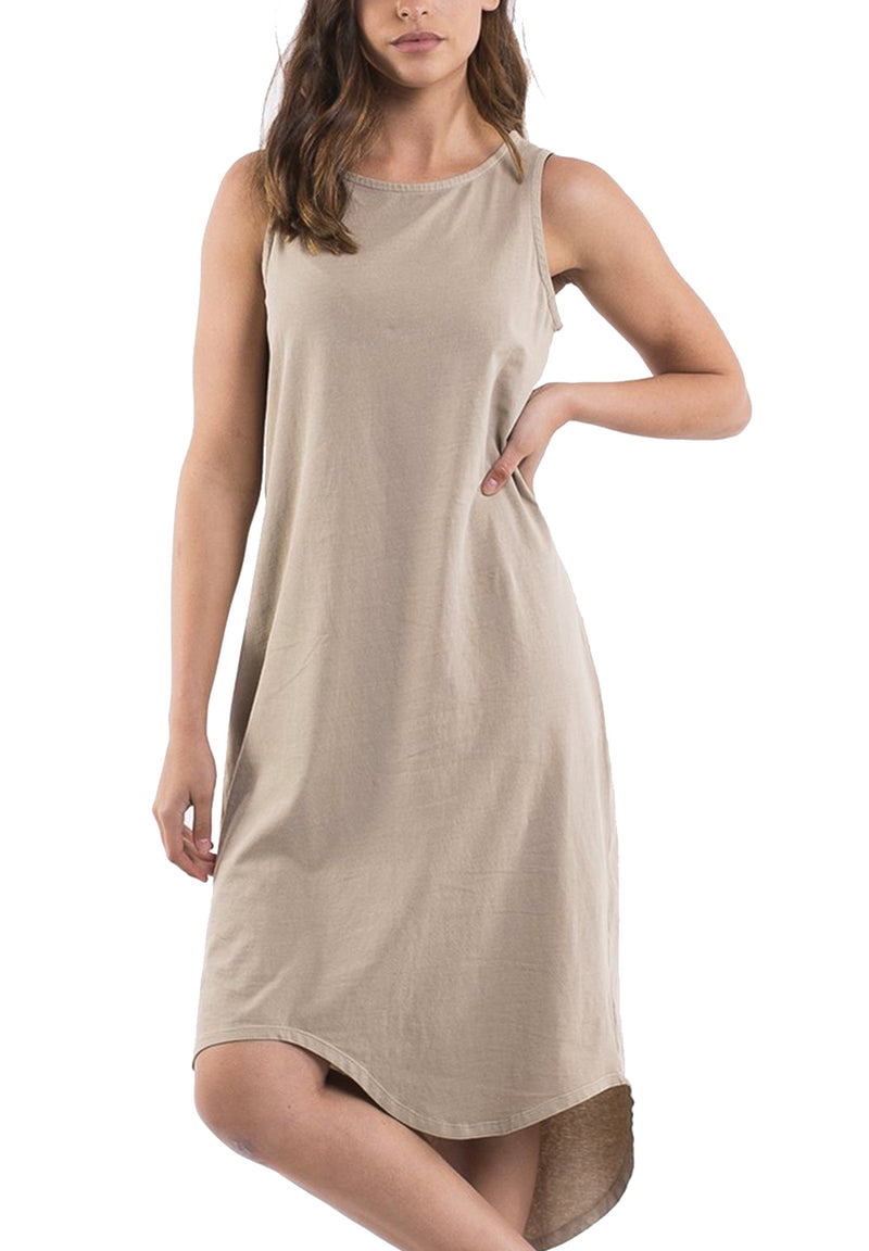 One in Eight Dress - Tan