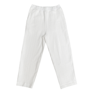 QUILTED PANTS - BONE