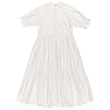 RAGLAN TIERED DRESS - BONE