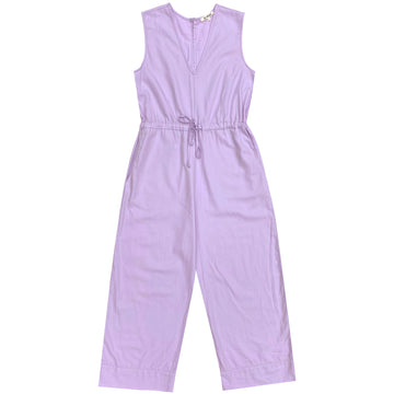 COTTON SLIT-BACK JUMPER - LILAC