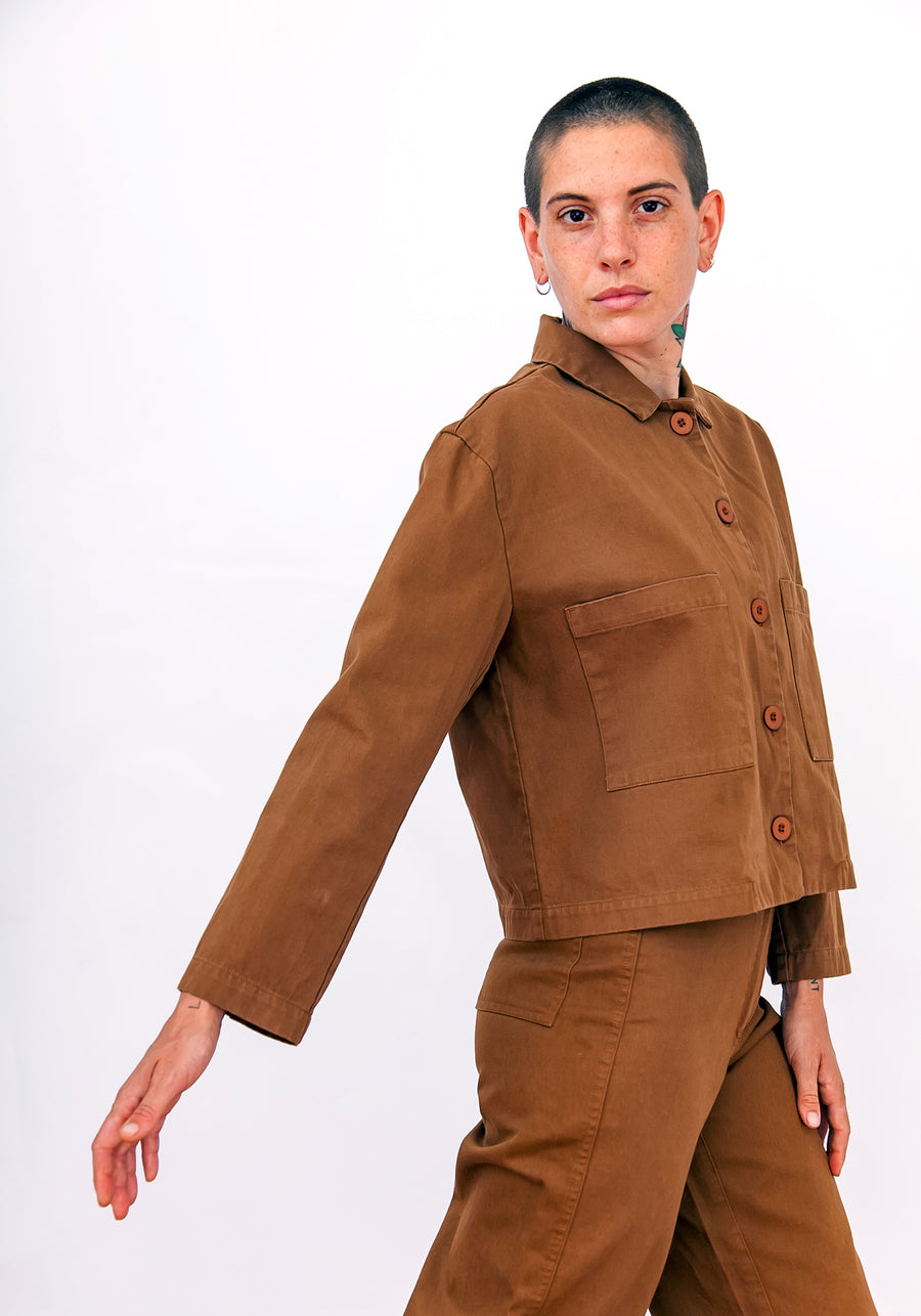 CROPPED JACKET - COPPER