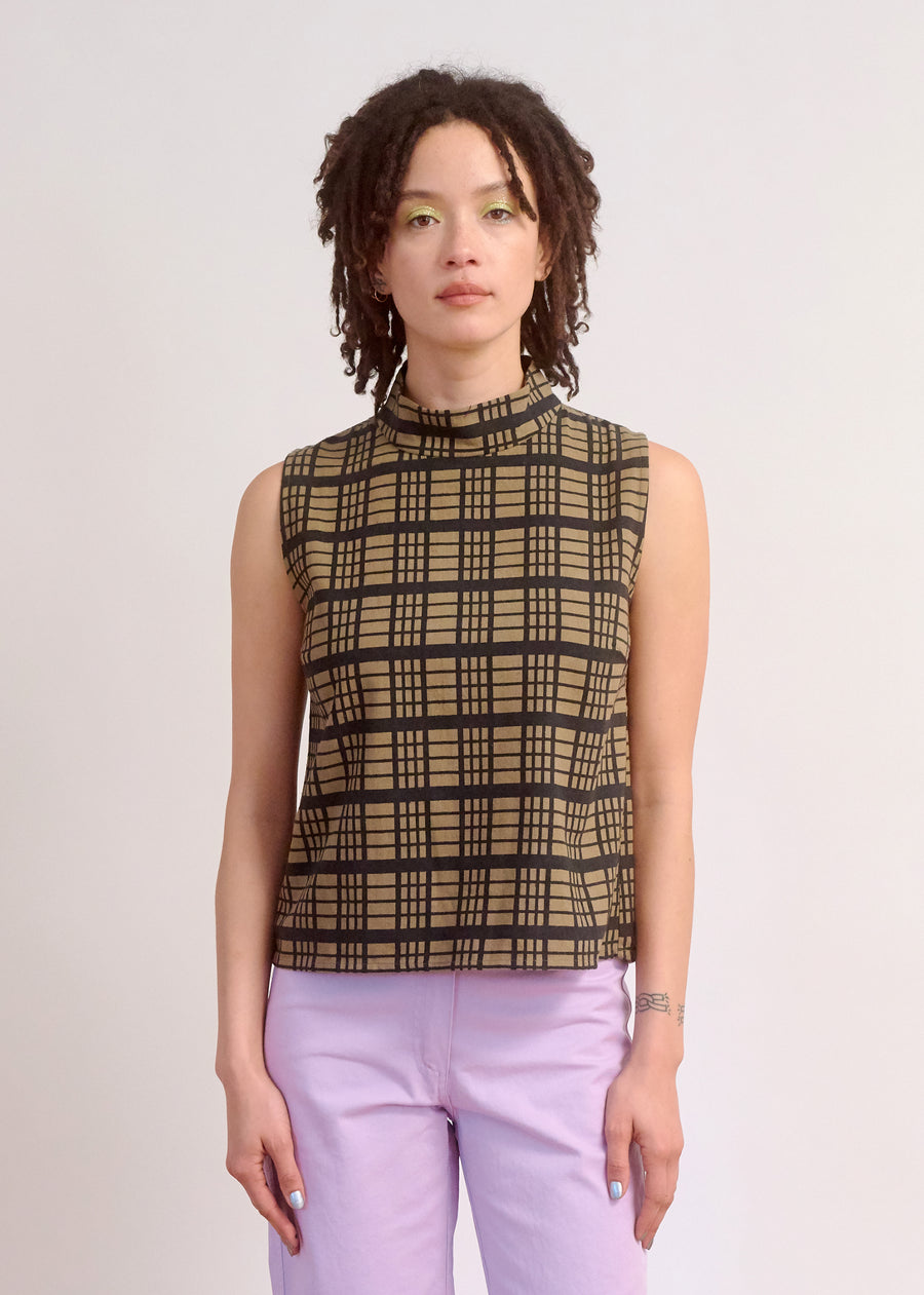 MOCK NECK TANK - WINDOWPANE
