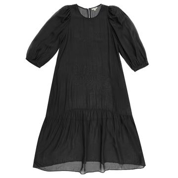 PEASANT DRESS - BLACK
