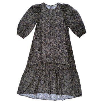 PEASANT DRESS - TAUPE PRINT