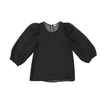 PEASANT TOP - BLACK