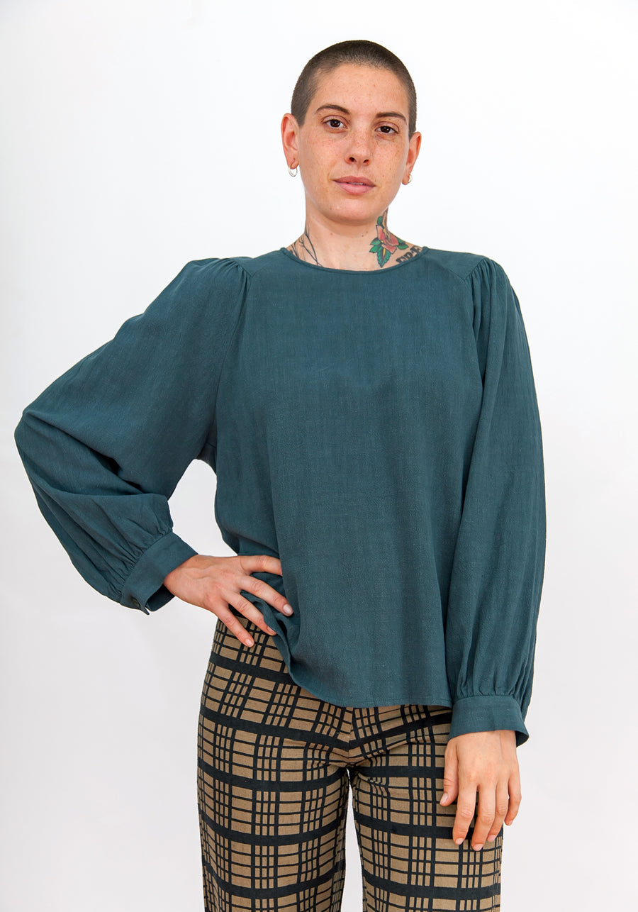 PIRATE TOP - TURQUOISE