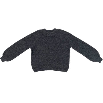 RICE STITCH PULLOVER - CHARCOAL MELANGE