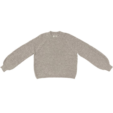 RICE STITCH PULLOVER - NATURAL MELANGE