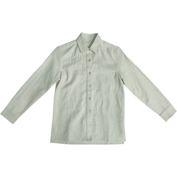 LINEN BUTTON-DOWN SHIRT - SAGE