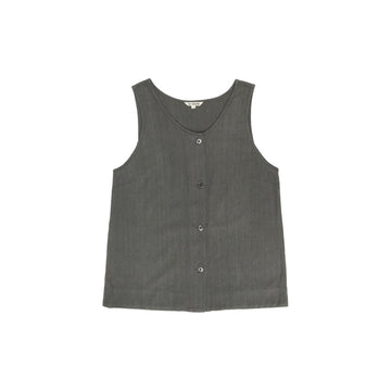 BUTTON-DOWN TANK - DARK GREY