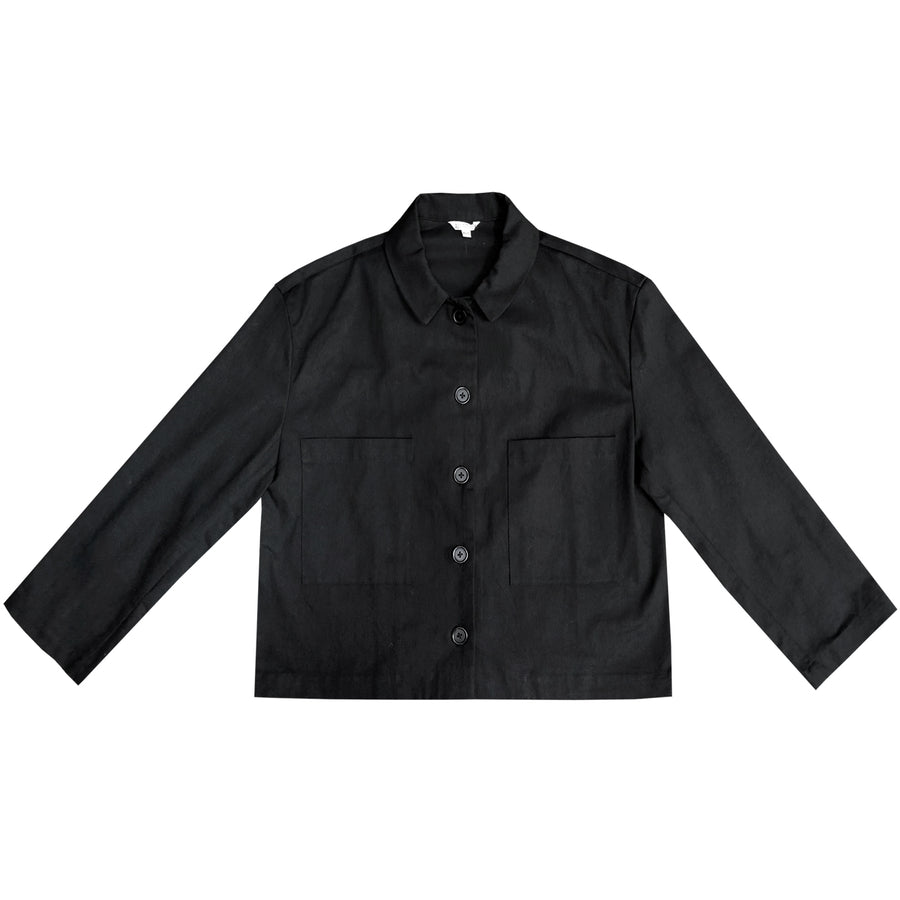 CROPPED JACKET - BLACK
