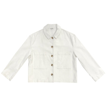 CROPPED JACKET - BONE