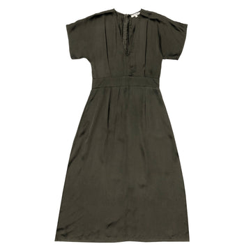 DEEP V-NECK DRESS - MUD