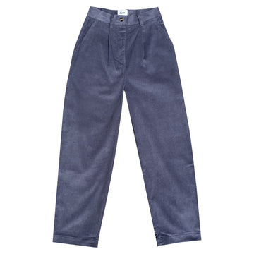 COCOSOLO CORDUROY TROUSER - DUSTY BLUE