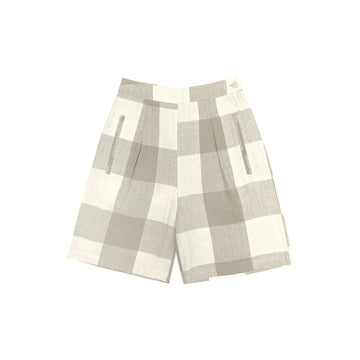 FANCY SHORT - NATURAL GINGHAM