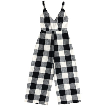FITTED JUMPSUIT - LARGE GINGHAM
