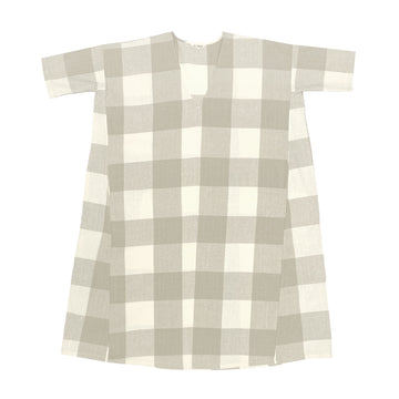 FULL DRESS W/ POCKETS - NATURAL GINGHAM
