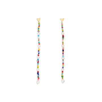LUINY - HEART DROP EARRINGS